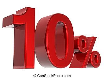 discount - A 3d ten percent concept