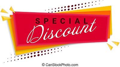Discount Banner Template Design. Vector Illustration.