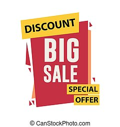 Discount Big Sale Vector Template Design