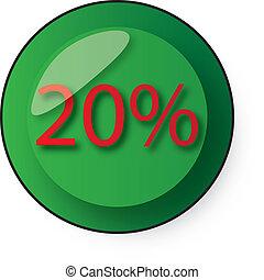 discount button - 20 % discount
