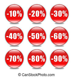 Discount Button in red