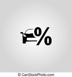 Discount car icon. Vector