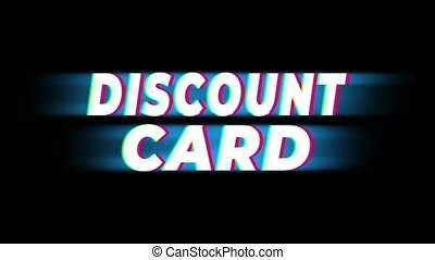 Discount Card Text Vintage Glitch Effect Promotion . -...