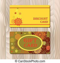Discount card, voucher, gift certificate, coupon template sale mockup template.