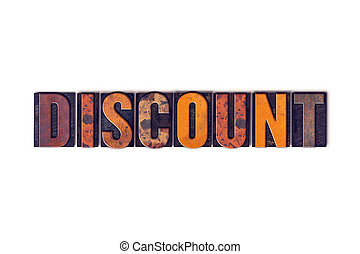 Discount Concept Isolated Letterpress Type