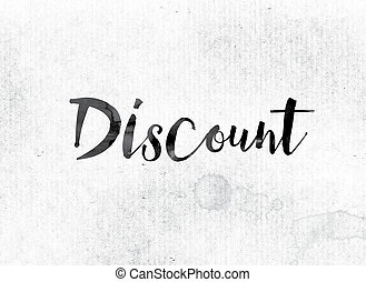 Discount Concept Painted in Ink