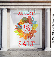 Discount concept - Storefront, window display, glass...