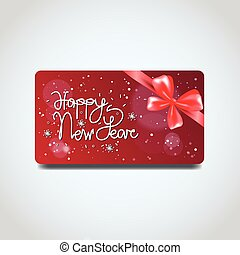 Discount Coupon Design Voucher For Present On Merry...