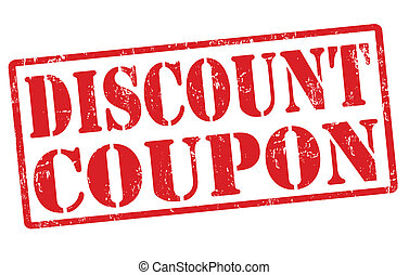 Discount coupon stamp