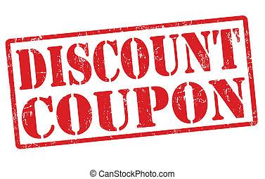 Discount coupon stamp
