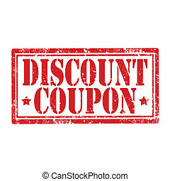 Discount Coupon-stamp - Grunge rubber stamp with text...