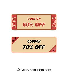 Discount coupons. Vintage Style