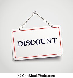 discount hanging sign