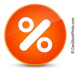 Discount icon elegant orange round button