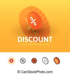 Discount icon in different style