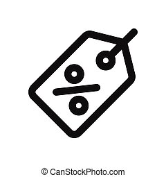 Discount icon isolated on white background. Discount icon in trendy design style. Discount vector icon modern and simple flat symbol for web site, mobile, logo, app, UI. Discount icon vector illustration, EPS10.
