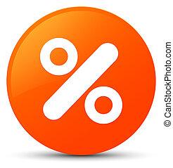 Discount icon orange round button