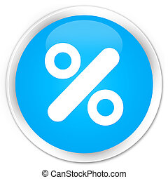 Discount icon premium cyan blue round button