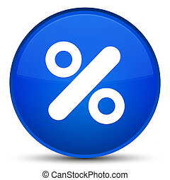 Discount icon special blue round button