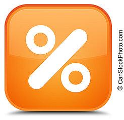 Discount icon special orange square button