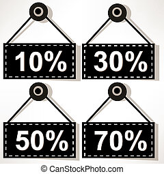 Discount icons set isolated on white background.???????????-2