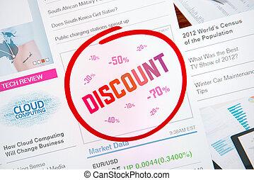 Discount internet advertisement
