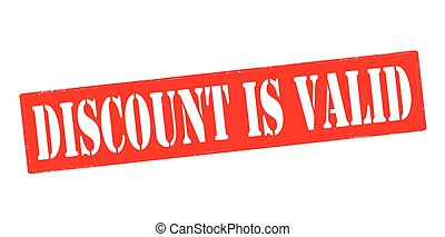 Stamp with text discount is valid inside, vector illustration