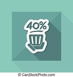 Discount label icon