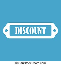 Discount label icon white