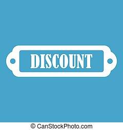 Discount label icon white