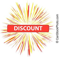 Discount label isolated on white background