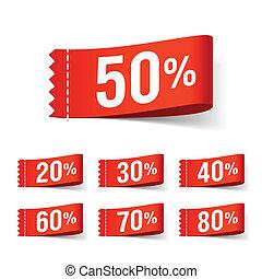 Discount labels - Vector illustration of discount labels
