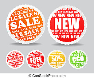 discount labels - Shopping colorful discount labels...