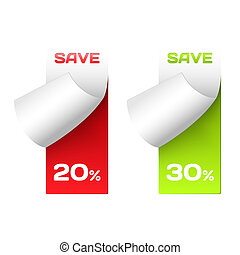 Discount labels. Set of stickers for options. - Discount...