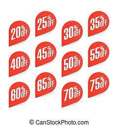 Discount labels set