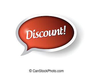 discount message communication bubble