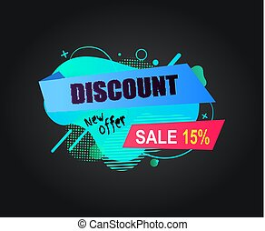 Discount New Offer Sale 15 Percents Off Banner
