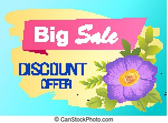 Discount Offer Big Sale Advertisement Label Viola