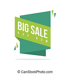 Discount offer price label big sale