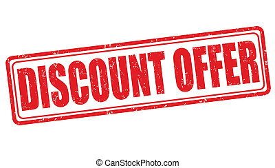 Discount offer stamp
