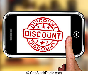 Discount On Smartphone Shows Promotional Products Or Sales