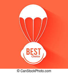 Discount parachute with text best choice