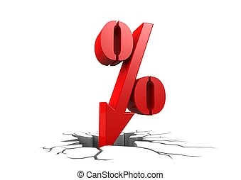 Discount percentage - Rendered artwork with white background