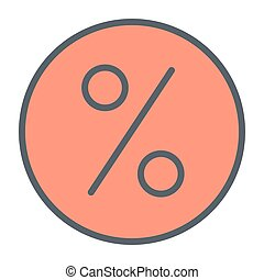Discount Pixel Perfect Vector Thin Line Icon 48x48. Simple Minimal Pictogram