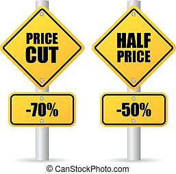 Discount price sign