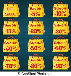 Discount price tag set