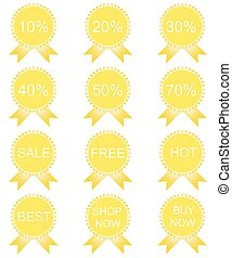 Discount price tags. Vector.