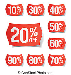 Discount price tags - Vector illustration of discount price ...