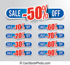 Discount prices vector illustration