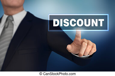 discount   pushing concept 3d illustration